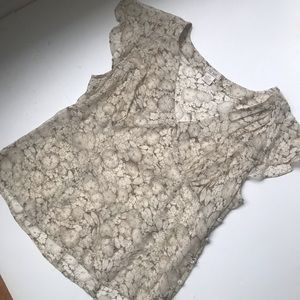 Ralph Lauren Polo Jeans Silk sheer floral top sz L